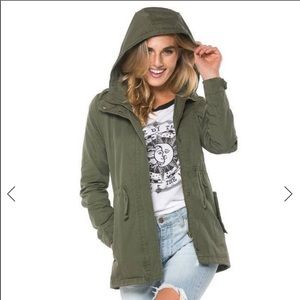 Miss London Utility Jacket Army Green | S
